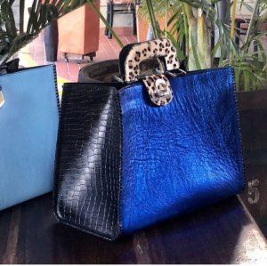 Luxe leather handbag