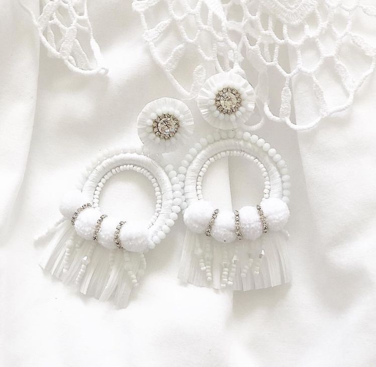 White special edition earrings