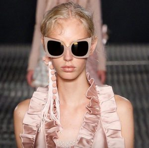 Beige Handmade sunglasses