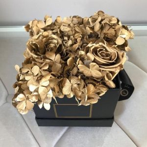 Preserved Gold Rose mixed with hydrangea