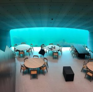 Europes first underwater restaurant
