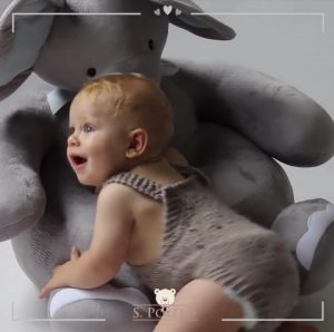 The cutest puff elephant for your baby