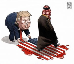 King we're losing our Ass defending you , Says Trump to Saudi Arabia King