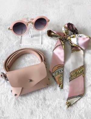 Blush waist belt set