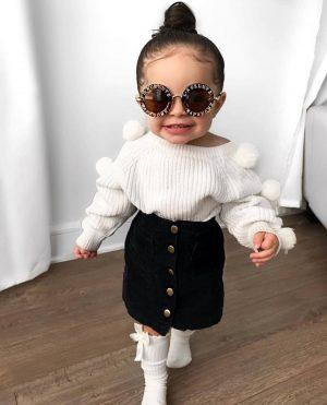 Luxury chic kids fashion look
