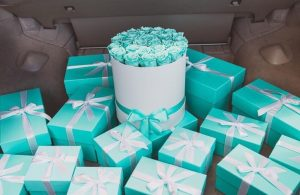 Tiffany inspired preserved roses