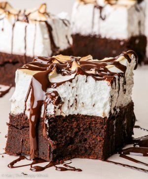 Sky high Marshmallow brownies