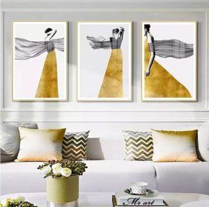 Gold theme art work