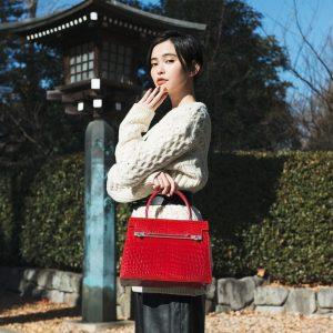 Exotic leather bespoke handbag