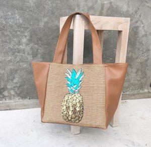 Pineapple luxury handmade handbag