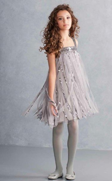 Kids couture Grey sparkle dress