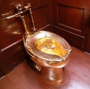 Blenheim Palace 24K Gold toilet valued at Six Million USD has been stolen