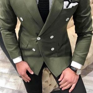 Army Green double breasted suit