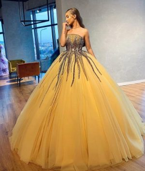 Absolutely stunning yellow ball gown