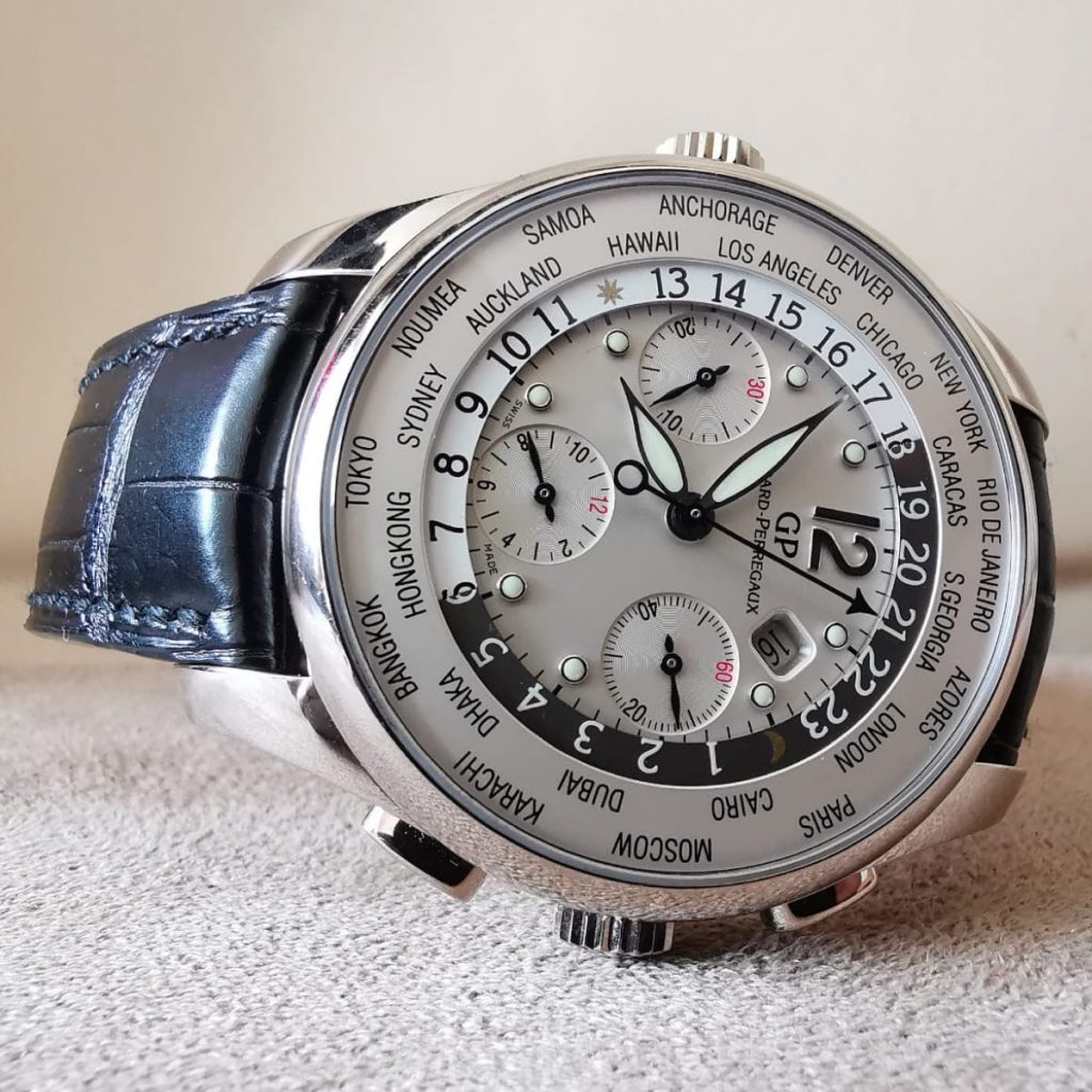 The Girard-Perregaux WW.TC World Timer Chronograph men's automatic watch