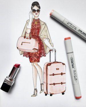 Luxury fashion Art Print