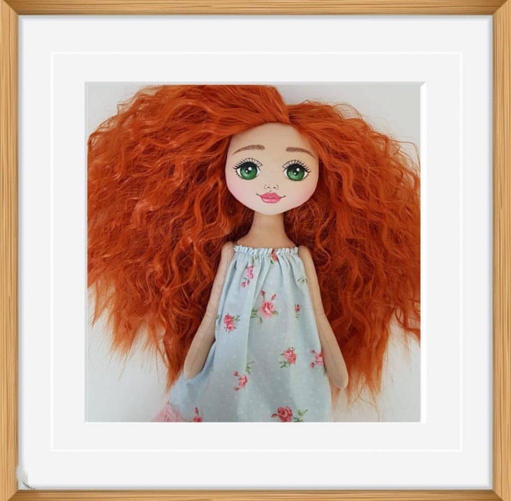 Luxury Framed Slay My Bambini doll Art