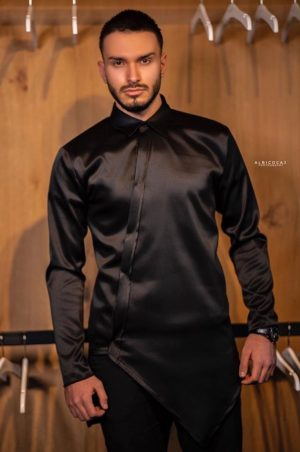 Traditional classy black silk outfit for him