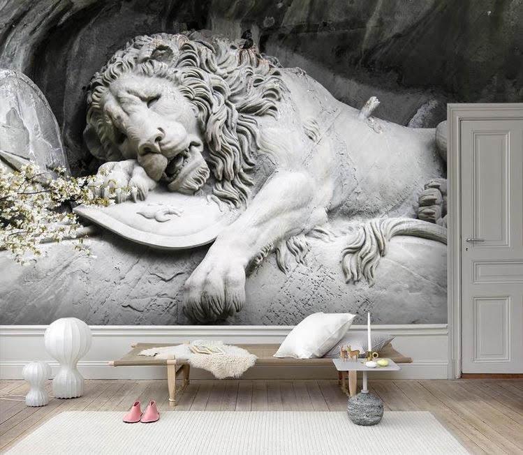 Custom Order, Lion Vinyl Wallpaper Exclusive Design