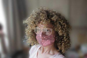 Super stylish dazzling Sequin face mask set
