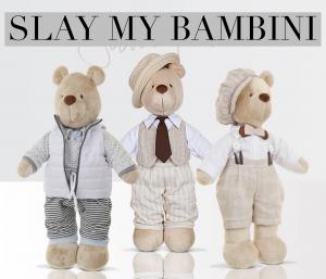 Three set luxe plush Teddy Bear gift