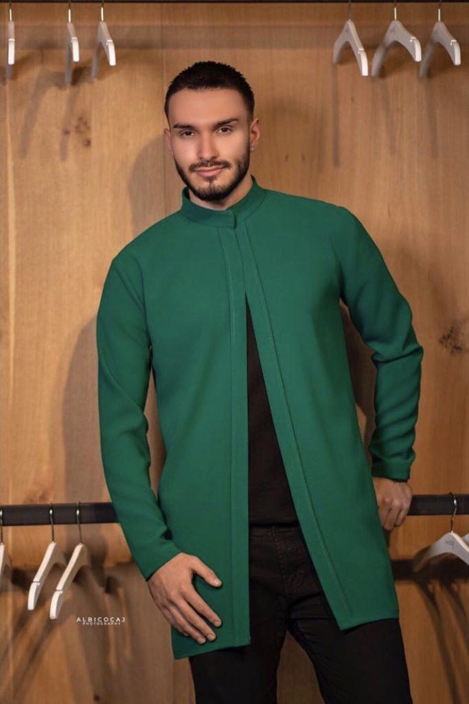 Luxury Bright Green Men's fashion ensemble