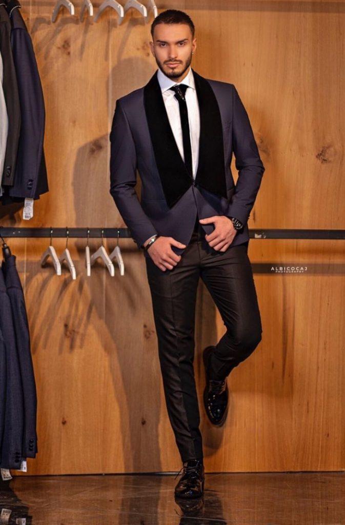 Black Men's fancy couture Suit