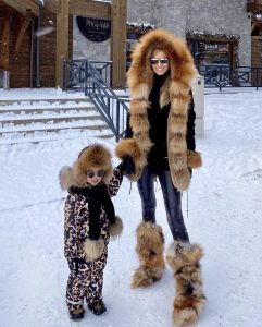 Mommy and Me exclusive fur look