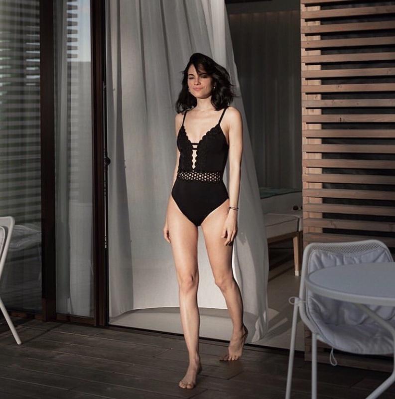 Black premium couture swimsuit