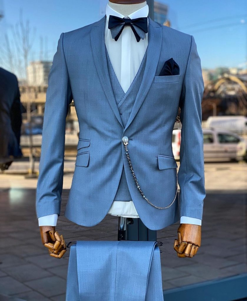 Ultra Luxe Blue Men's Fashion Suit