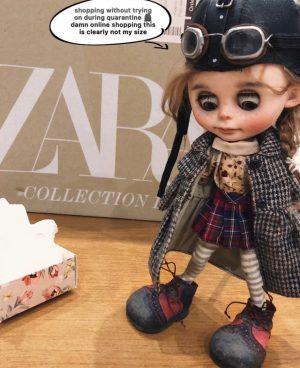 Quarantine blythe custom doll