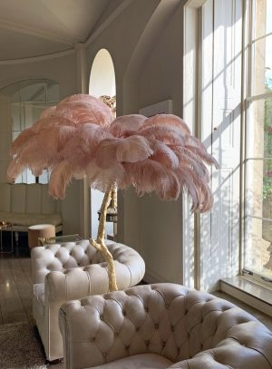 The most unique feather lamp