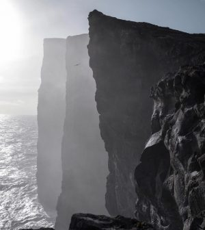 The famous Slave Cliff Vagar Faroe Islands