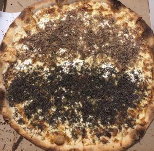 White and black truffle pizza