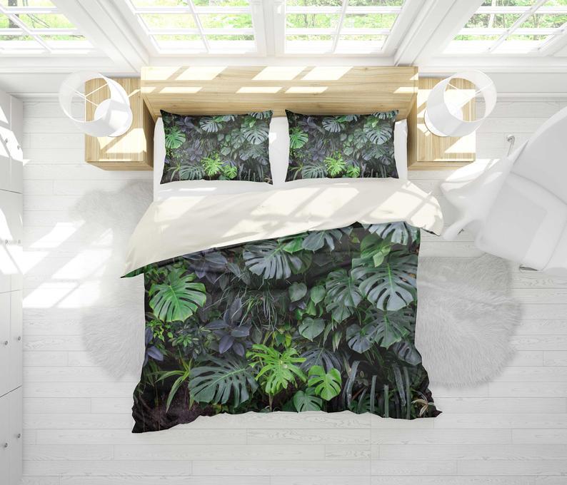 Luxurious 3D Tropical plant  Bedding