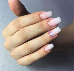 Crystal embellished natural  Luxury Press on Nails