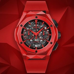 HUBLOT CLASSIC FUSION AEROFUSION CHRONOGRAPH ORLINSKI RED MAGIC 525.CF.0130.RX.ORL19 WATCH