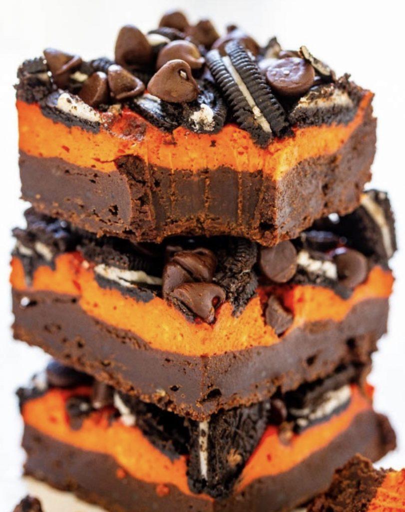 Halloween Cheesecake Brownie