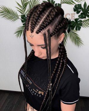 Luxury Custom full lace synthetic cornrow braided wig