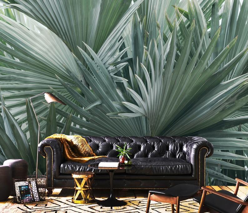 3D Custom Luxury, Tropical Foliage Abstract, Vinyl Wallpaper Exclusive Design