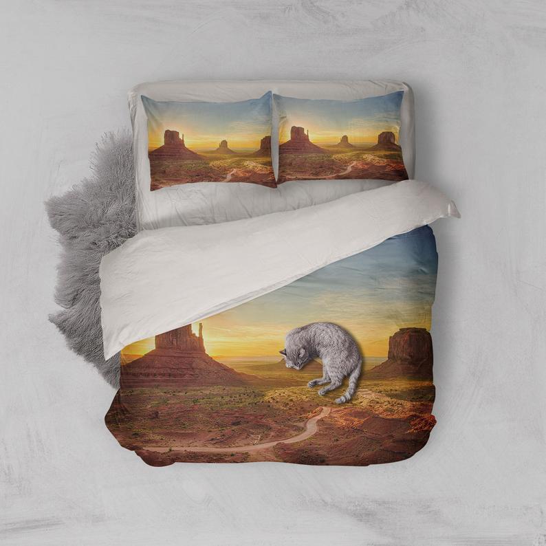 Luxurious 3D Spectacular, Desert scenery Bedding