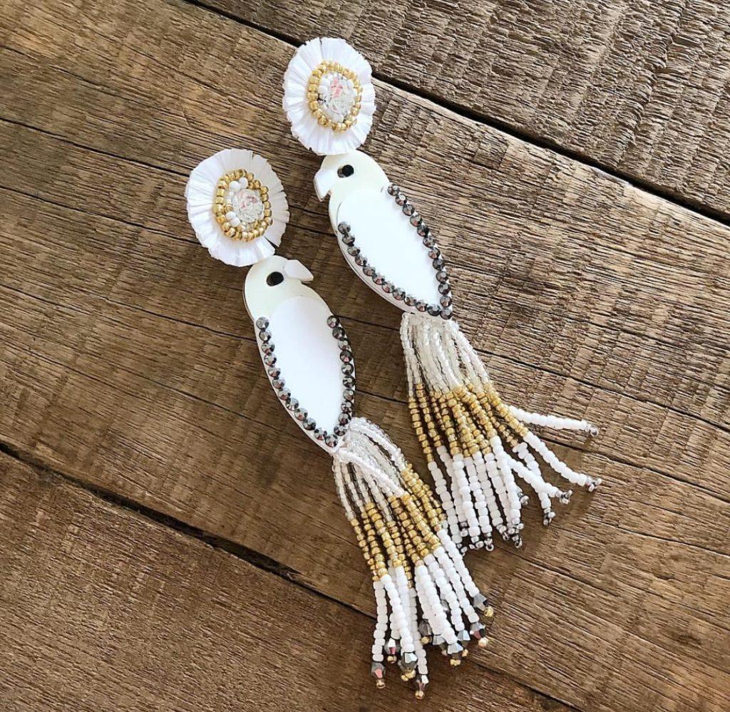 Custom bird earrings