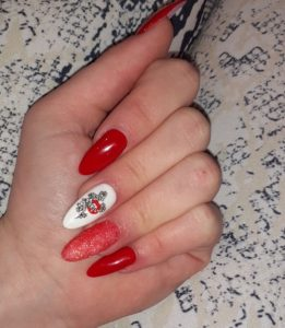 Festive with glitter Luxury Press on Nails