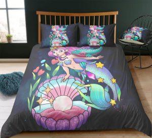 Luxurious 3D Cartoon, Mermaid Bedding
