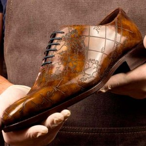 Signature limited edition cartography whole cut Men's custom shoes