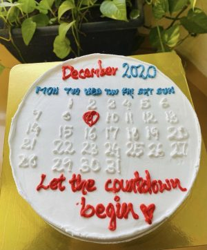 Signature countdown cake free delivery worldwide