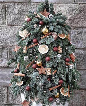 Festive ornament faux  tree