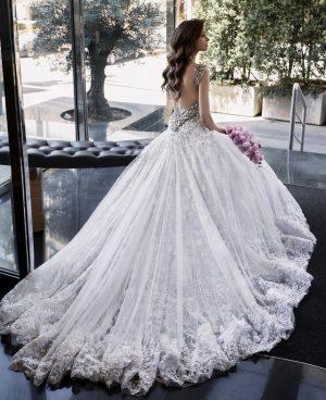 Embellished luxe wedding dress