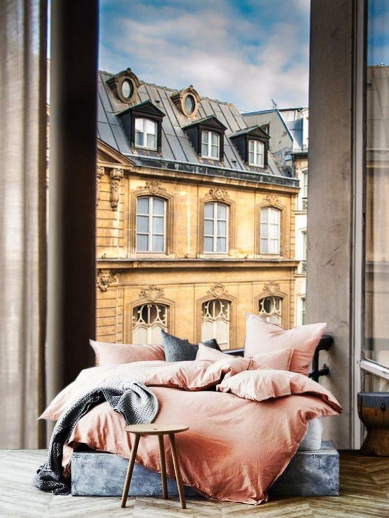 3D Custom Paris street, Architecture Vinyl Wallpaper Exclusive Design