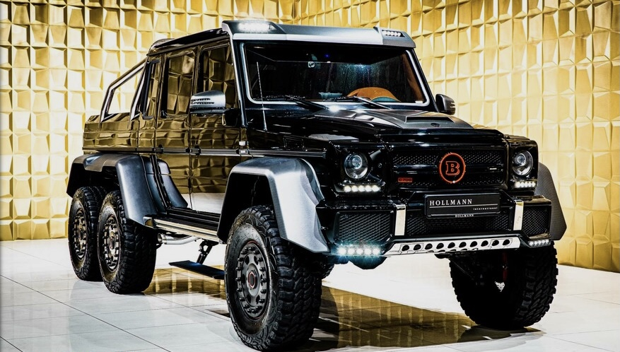 Black  Mercedes-Benz G 63 6×6 AMG BRABUS 700 FOR SALE